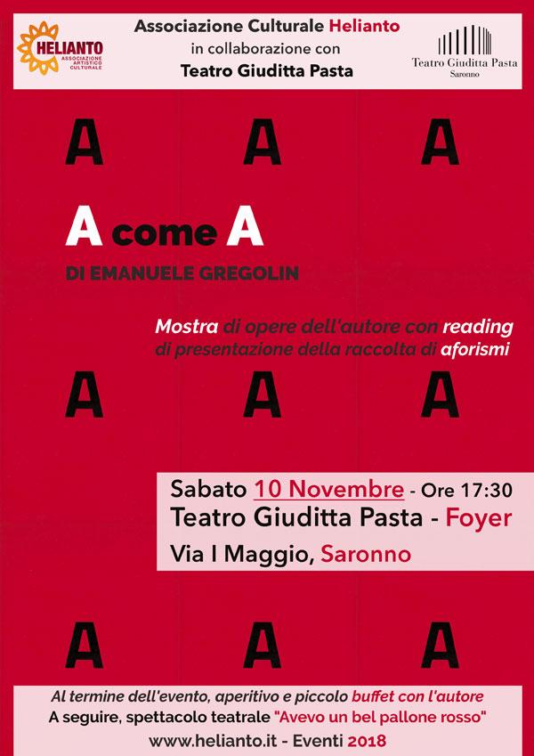 AcomeA - Di Emanuela Greglin - Mostra Personale
