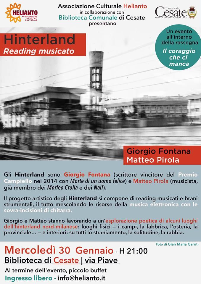 Giorgio Fontana - Hinterland > Reading Musicato